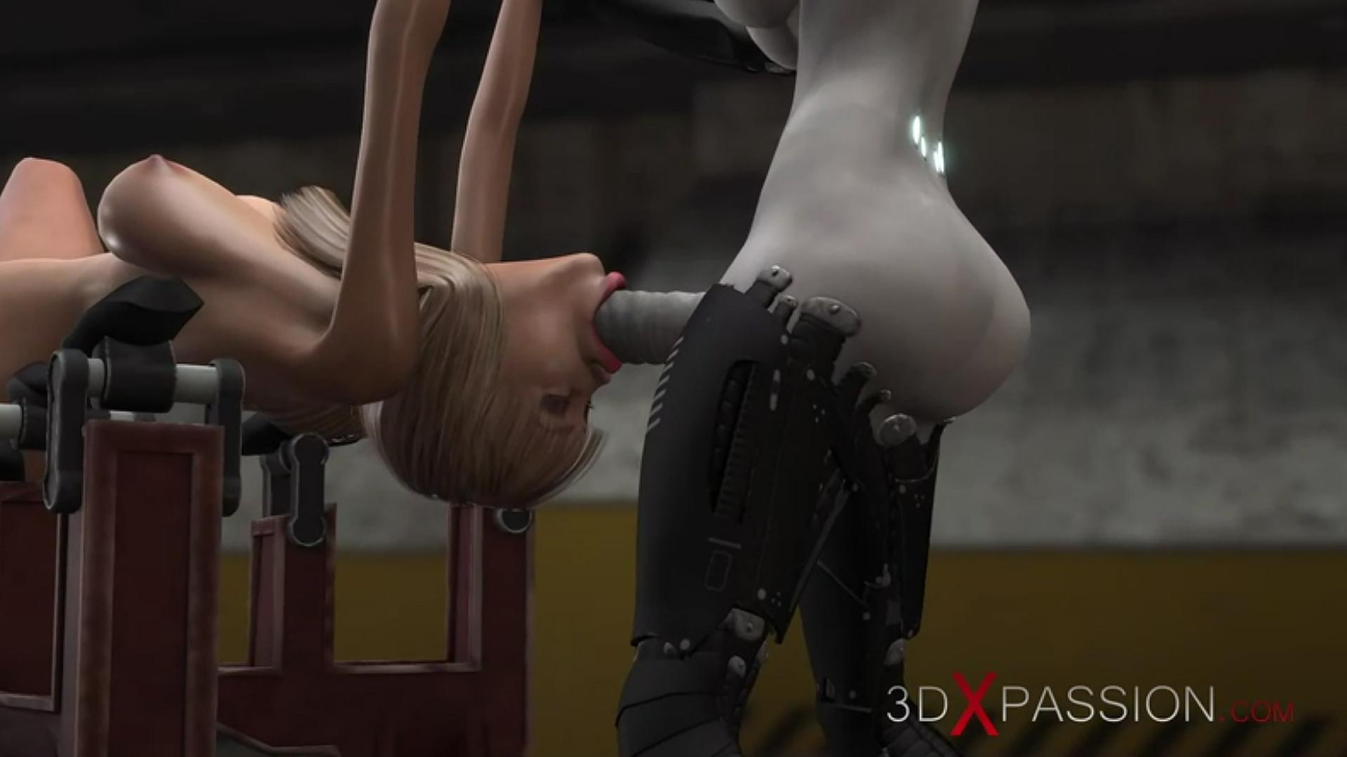 area 51 sci-Fi female android deepthroat irrumatio slave girl