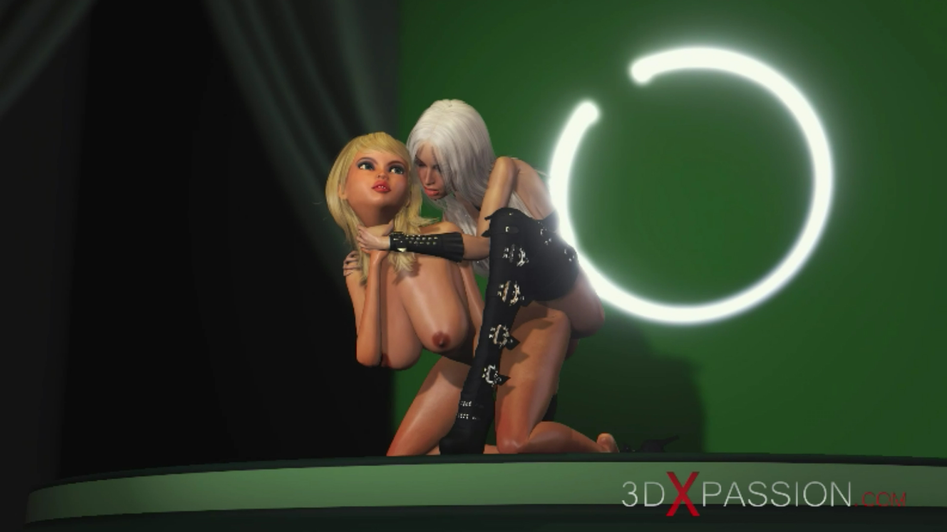 horny blonde girlfriend doggystyle 3d shemale fashion model podium