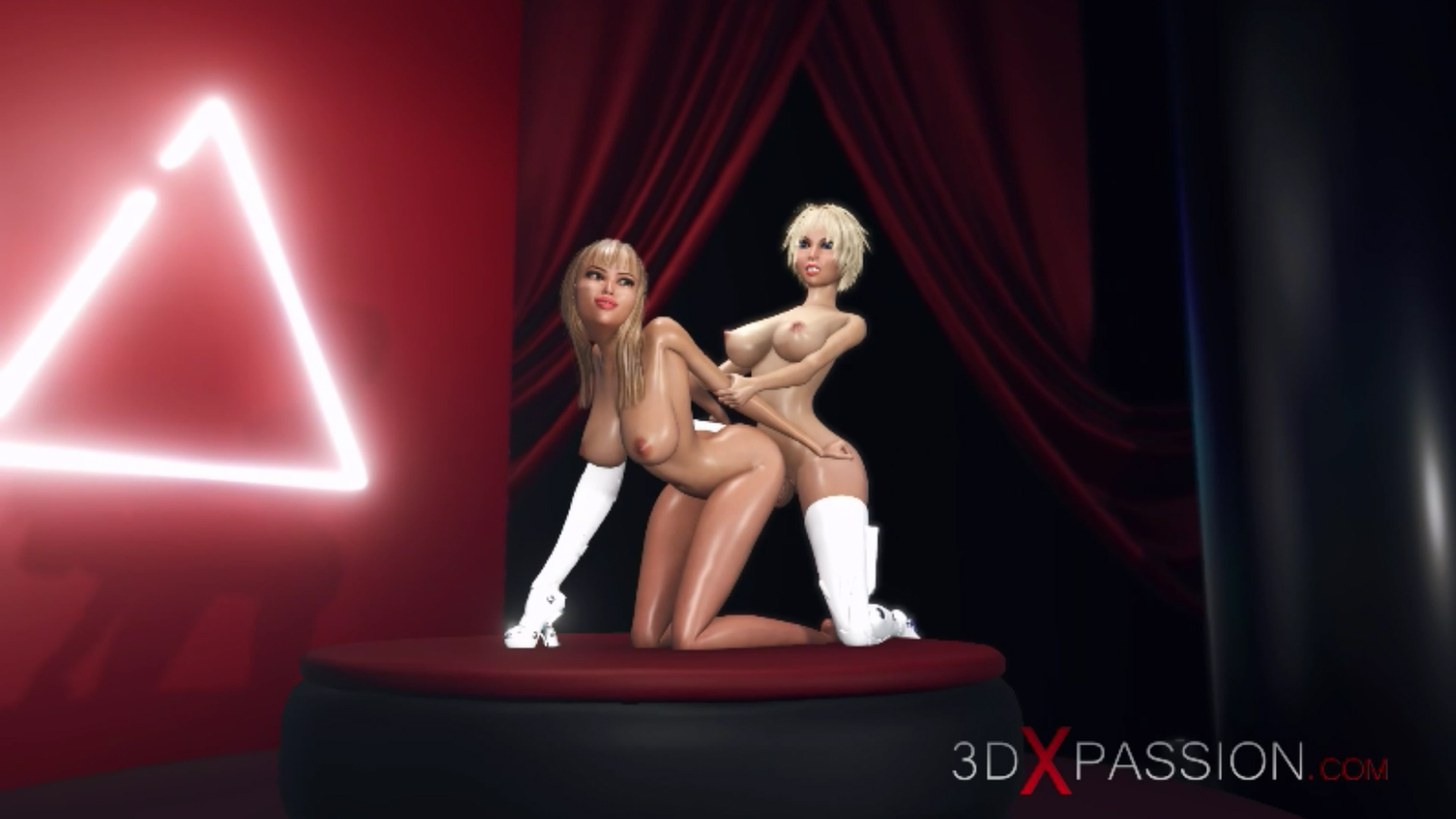 horny blonde ass fuck 3d dickgirl shemale fashion model podium