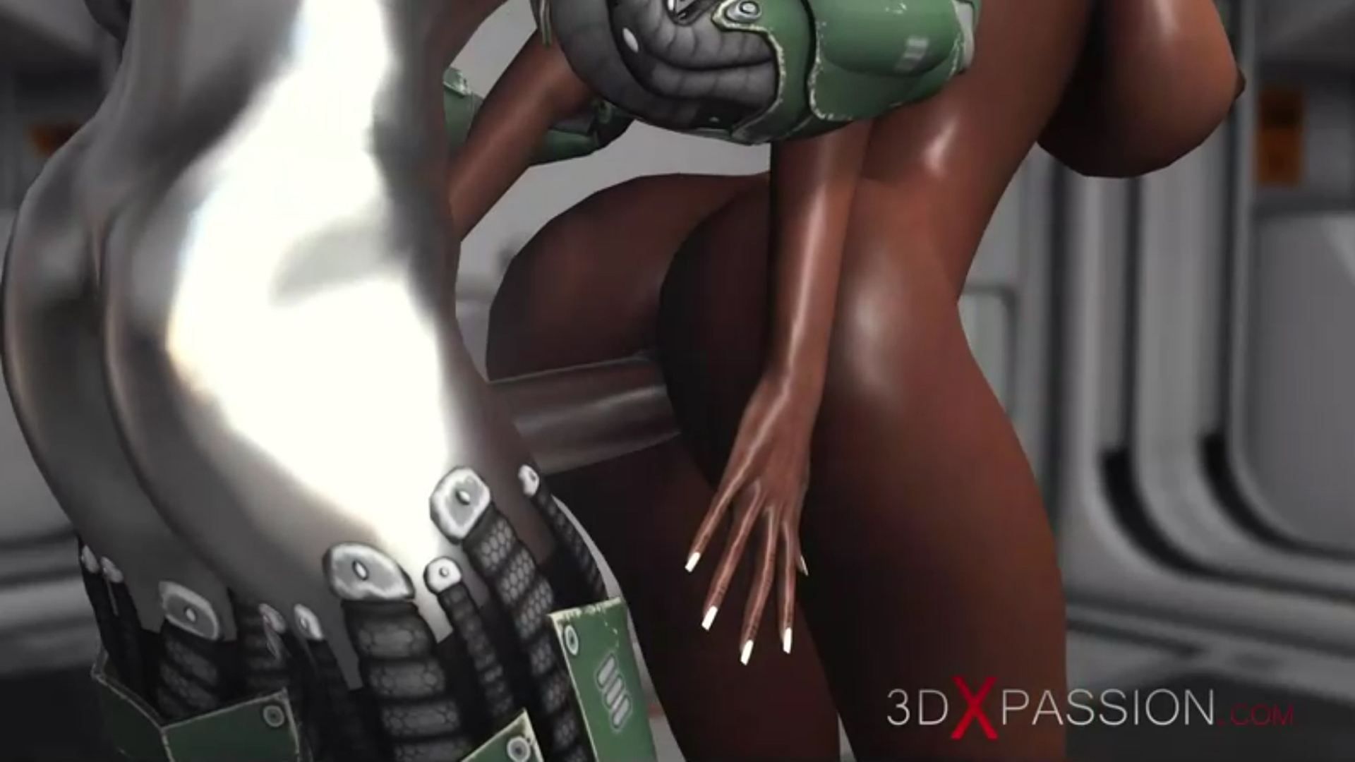 Horny black ass fuck sex android base camp exoplanet
