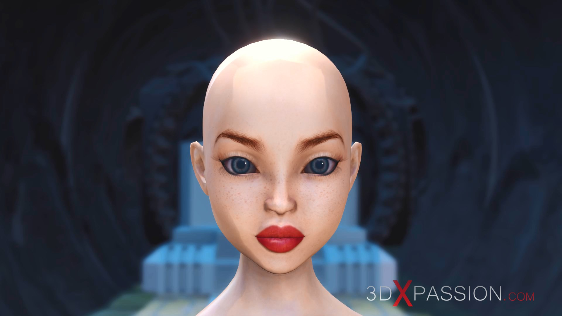 Bald head slave girl fucked  Hell princess exoplanet