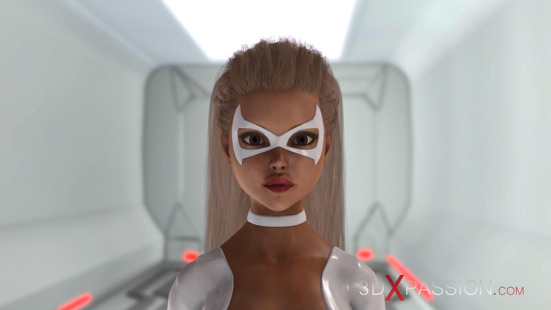 3d alien dickgirl space station
