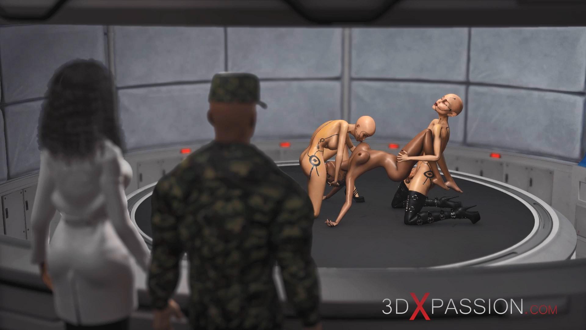 Area 51 Female androids fucking black girl lab sci-fi