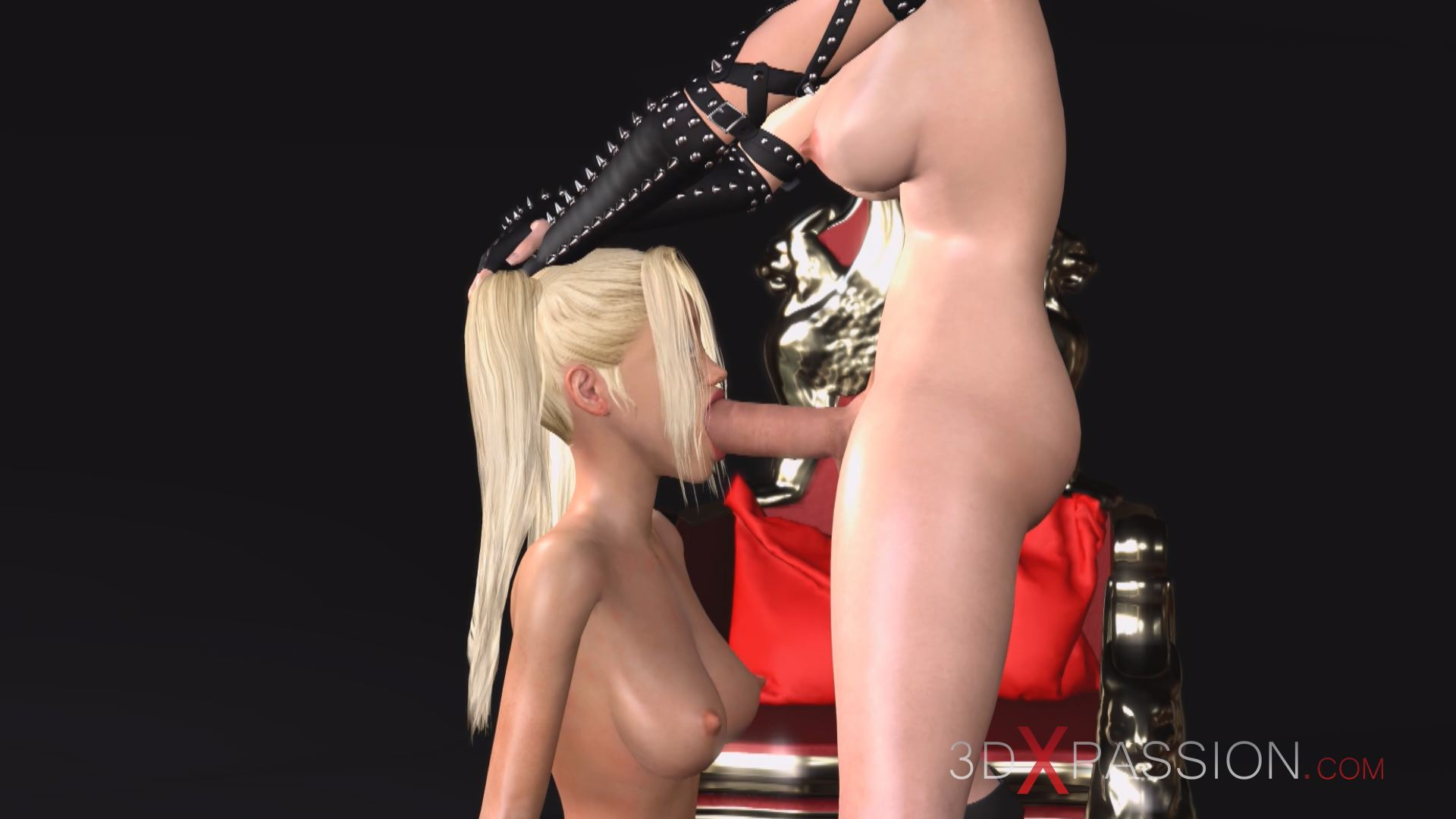 dickgirl giving rough blowjob hot teen blonde slaves dark