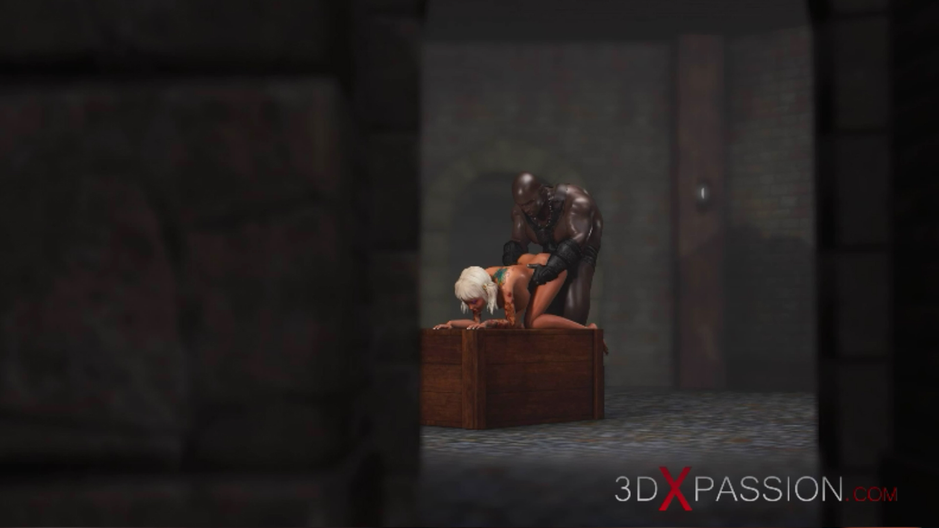 Sweet schoolgirl doggystyle black man dungeon anal