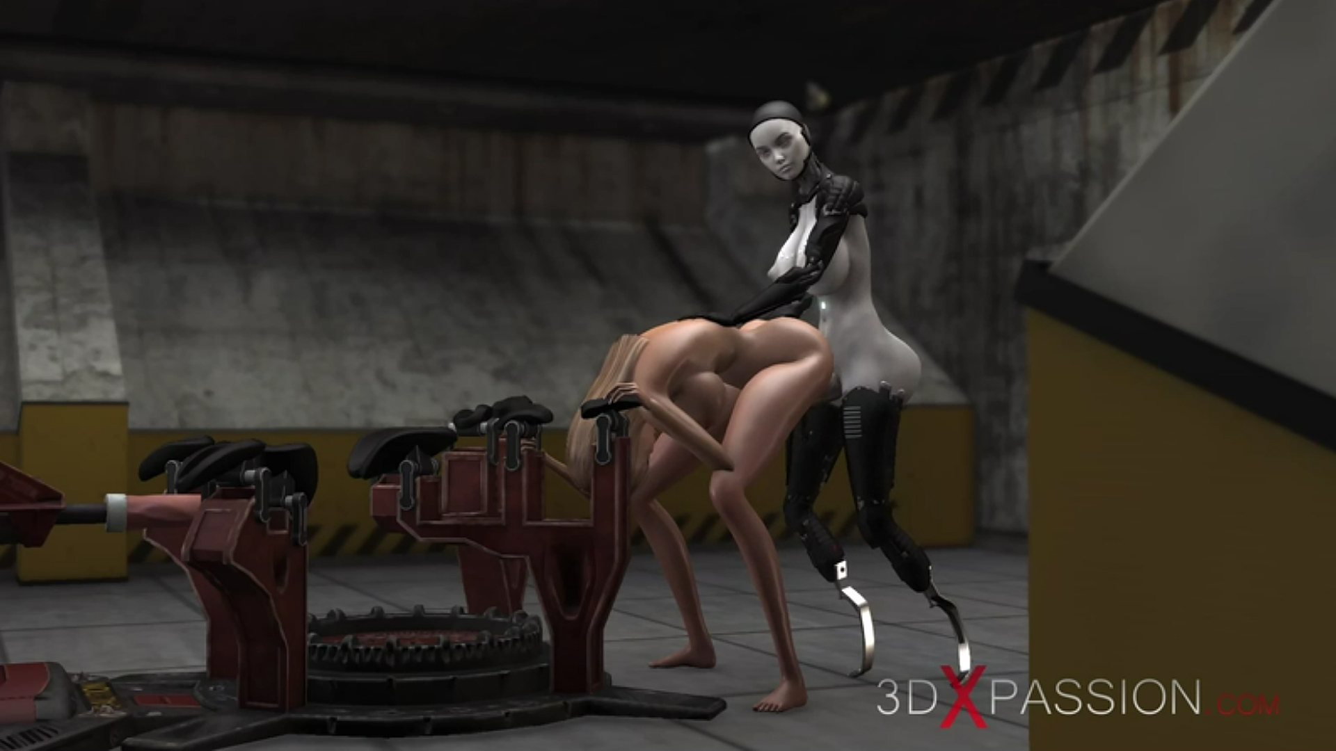 area 51 sci-Fi female android doggystyle slave girl