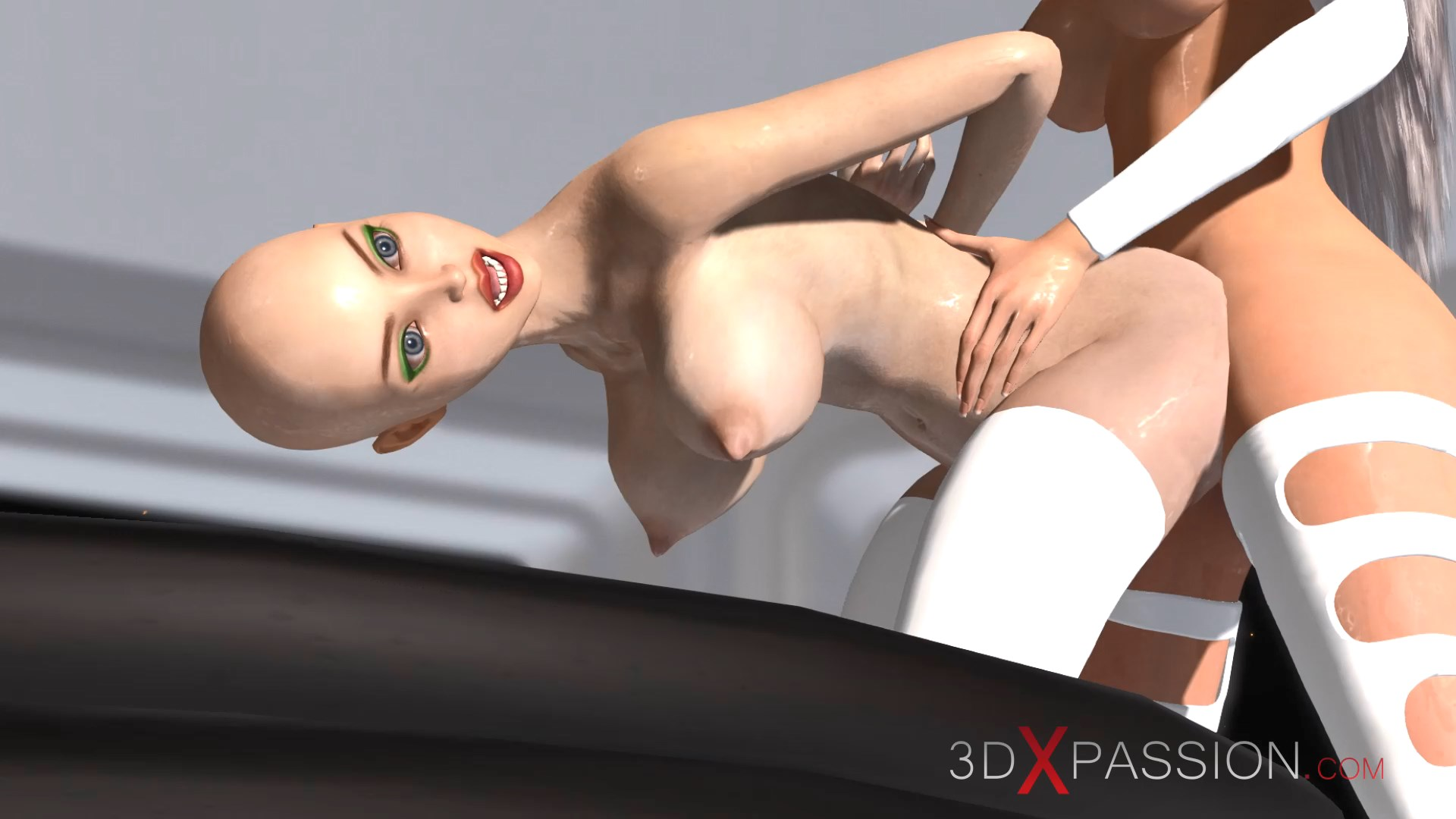 3d hot alien dickgirl doggystyle sexy girl space station