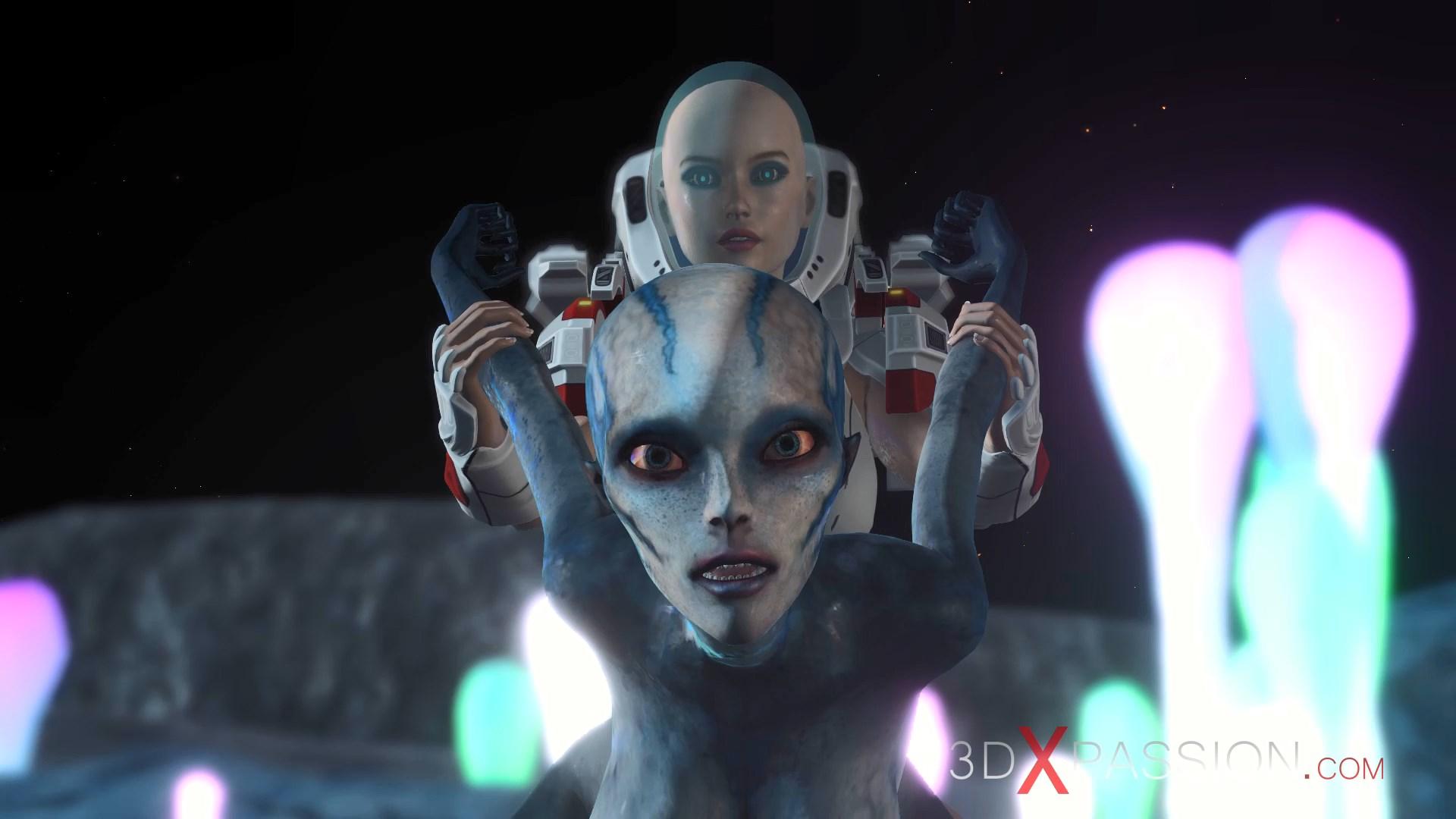 alien fucked spacewoman spacesuit strapon exoplanet sci-fi