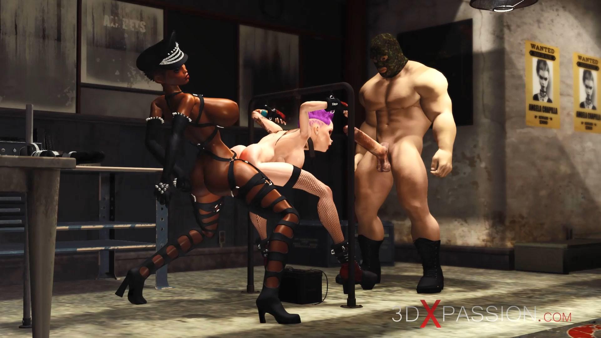 Super hot sexy Fuck machine, BDSM, hardcore, gangbang and double penetration doggystyle